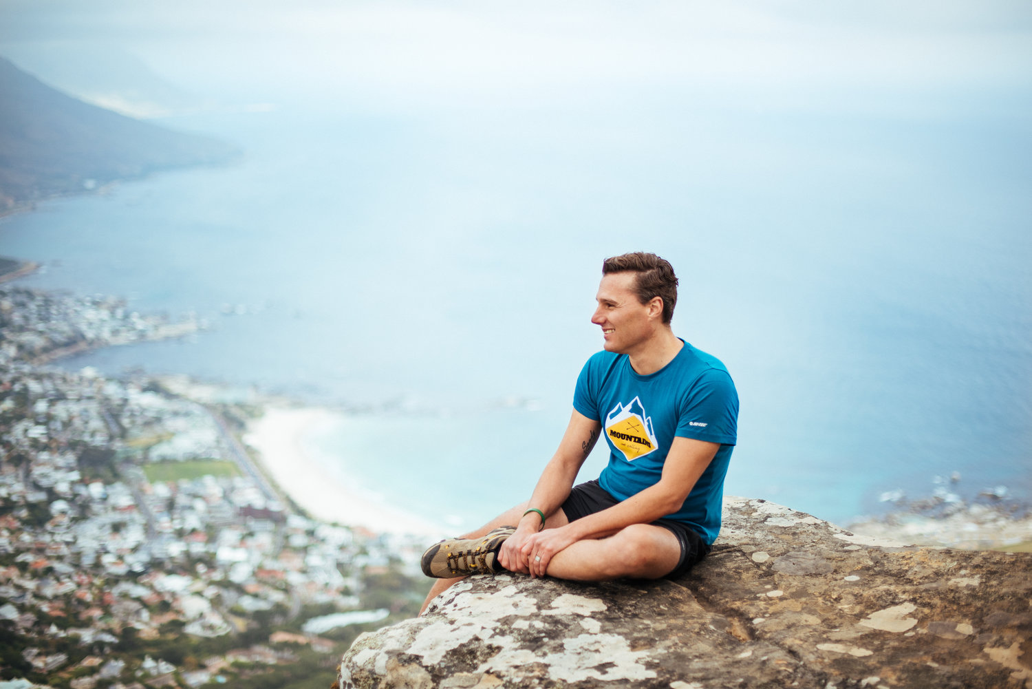 Hein at the top of Lions Head